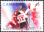 Stamp: Paul Henderson and Yvan Cournoyer: the Series of the Century 1972