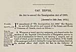 AN ACT TO AMEND THE IMMIGRATION ACT OF 1869, 1872, (STATUTES OF CANADA)