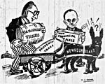 Caricature: Image from the selection of caricatures and newspaper articles, 1948.