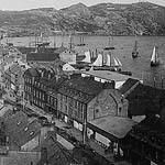 Photograph of Water Street in St. John's Newfoundland, 1886