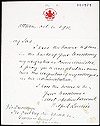 Prime Minister Wilfrid Laurier's letter of resignation to Governor General Earl Grey, October 6, 1911.