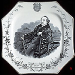 Sir John A. Macdonald commemorative plate.