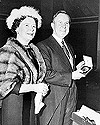 Mr. and Mrs. L.B. Pearson at the Nobel Peace Prize ceremonies, 1957.