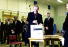 Jean Chrétien casts his ballot, November 27, 2000.