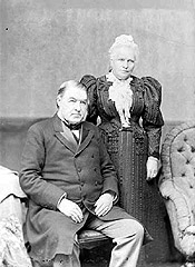 Prime Minister Sir Charles Tupper and his wife Lady Frances, 1896.