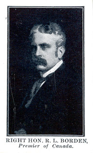 Trading card (front): Robert Borden.